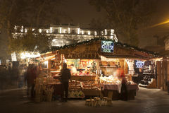 Christmas fair stand in Budapest Stock Image