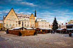 Christmas fair  in Tallinn Stock Photos