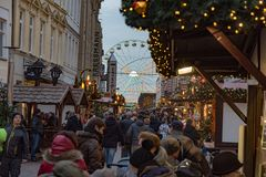 Christmas fair in the town of Schwerin november 30 2018 royalty free stock images