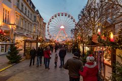 Christmas fair in the town of Schwerin november 30 2018 royalty free stock photography