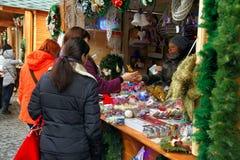 Christmas Fair in Uzhgorod Royalty Free Stock Image