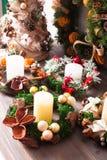 Christmas fair wreathes. Christmas fair, Large Choice of aromatic natural wreathes Royalty Free Stock Photo