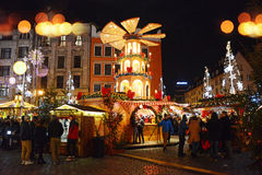 Christmas fairs in the market square in Wroclaw Royalty Free Stock Photography