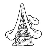 Elf Coloring Page Christmas Fairy House Stock Photos