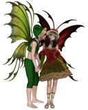 Christmas Fairy Kiss Stock Photo