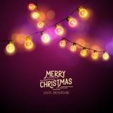 Christmas Fairy Lights Stock Photos