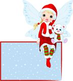 Christmas Fairy place card Stock Photography