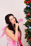 Christmas fairy sexy woman Stock Photo