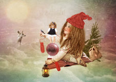 Christmas Fairy Tale Royalty Free Stock Photos