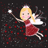 Christmas fairy vector Royalty Free Stock Images