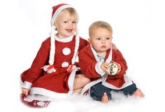 Christmas family Royalty Free Stock Photo