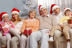 Christmas family Stock Photography