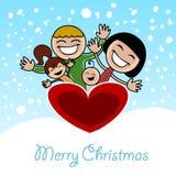 Christmas family stock illustration