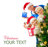 Christmas Family stock images
