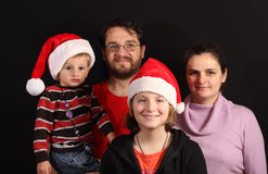 Christmas family Royalty Free Stock Photos