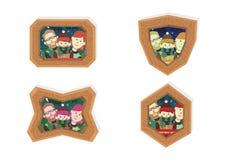 Christmas family frames Stock Image