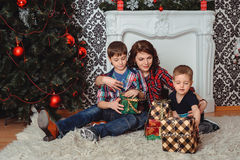 Christmas family Royalty Free Stock Image
