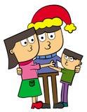 Christmas family hug Royalty Free Stock Images