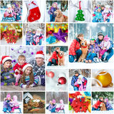 Christmas family photos Royalty Free Stock Photography