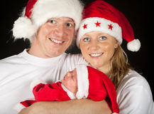 Christmas family portrait Royalty Free Stock Photography