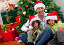Christmas family portrait Royalty Free Stock Photos