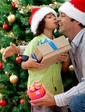 Christmas family portrait Royalty Free Stock Photo