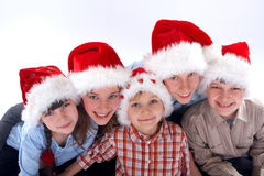 Christmas Family Portrait royalty free stock images
