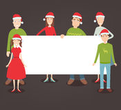 Christmas family portrait. Family holidays. Vector Stock Images