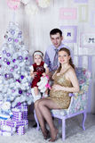 Christmas family portrait Stock Image