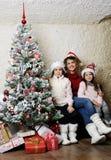 Christmas family portrait Stock Photos