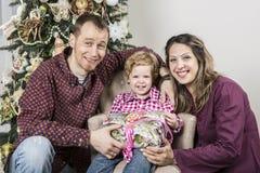 Christmas family royalty free stock photos