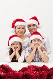 Christmas family together Stock Image