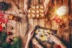 Christmas family traditions Royalty Free Stock Images