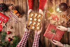 Christmas family traditions Royalty Free Stock Photos
