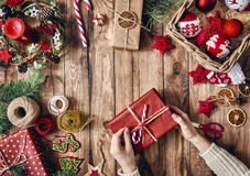 Christmas family traditions. Stock Photography