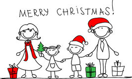 Christmas family, vector Royalty Free Stock Photo