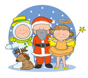 Christmas fancy dress Royalty Free Stock Image