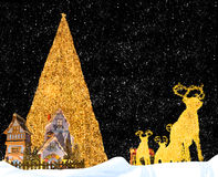 Christmas Fantasy. Composition of some traditional symbols of Christmas Royalty Free Stock Photography