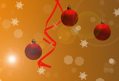 Christmas fantasy. Image of christmas decorations and background lights Stock Photography