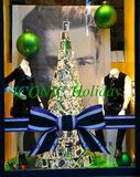 Christmas fashion with high quality shops in Florence, Italy  Royalty Free Stock Photography