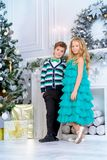 Beautiful kids on xmas Royalty Free Stock Photos