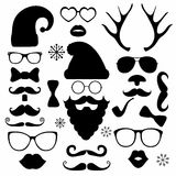 Christmas fashion silhouette set hipster style Royalty Free Stock Image