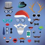 Christmas fashion silhouette set hipster style Royalty Free Stock Photos