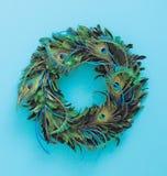 Christmas feathered wreath Stock Image