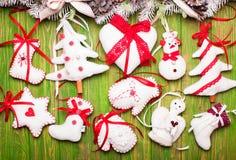 Christmas felted toys Stock Photo