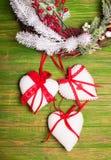 Christmas felted toys Stock Photos