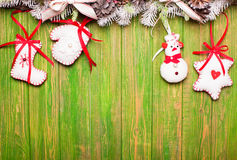 Christmas felted toys Royalty Free Stock Image