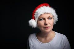 Christmas female beauty portrait Stock Images