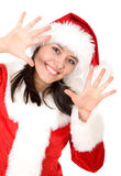 Christmas female santa Stock Photography