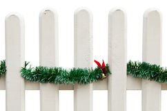 Christmas fence Royalty Free Stock Photography